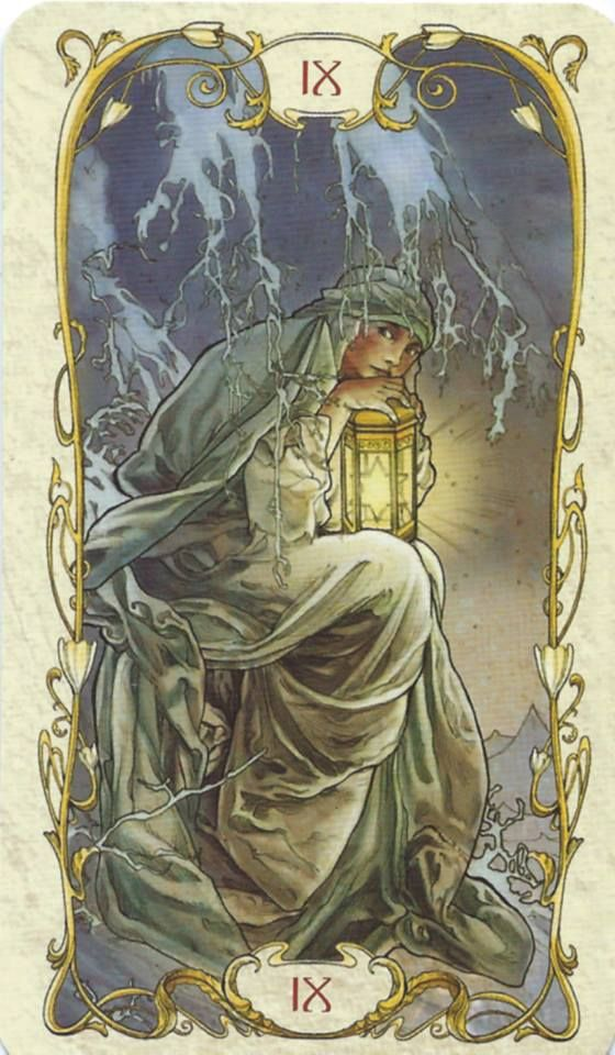 The Hermit - Tarot Mucha I didn't know there was a Mucha tarot. Is there a full desk or just some images like the great arcana ? does anyone know ?