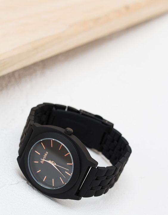 Bershka Portugal - Relógio metálico liso