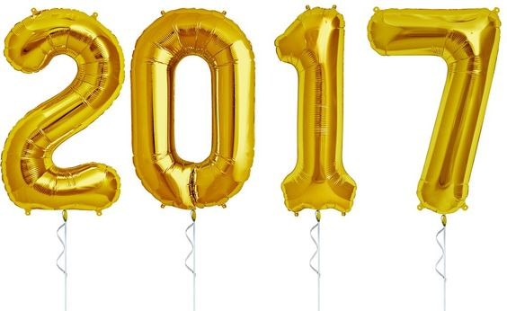 Our Gold Extra-Large 2017 Balloon Banner is perfect for your New Year's Eve Party or Graduation Party  New Years, 2017 Graduation, New Year's: