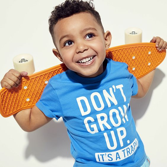 Don't grow up. It's a trap! | Kids' clothes | Toddler boys' fashion | Short sleeve graphic tee | The Children's Place