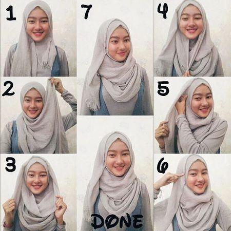 Tutorial Hijab Pashmina Kusut Untuk Wajah Bulat Di 2020 Kursus