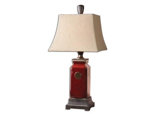 redTable Lamps | Uttermost Reggie Red Table Lamp 27937 - table lamps