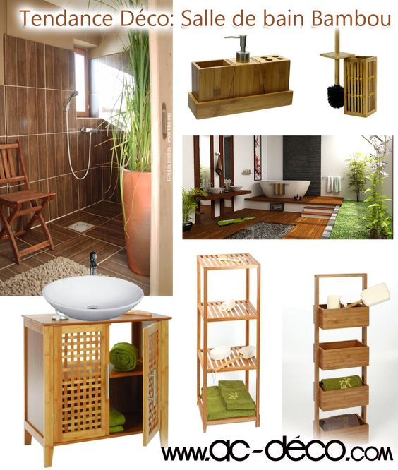 Salle de bain en bambou - meubles et accessoires en bambou pas chers ...