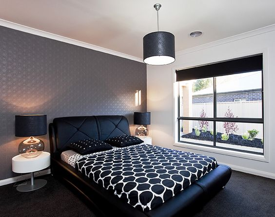 colors monochrome and bedrooms on