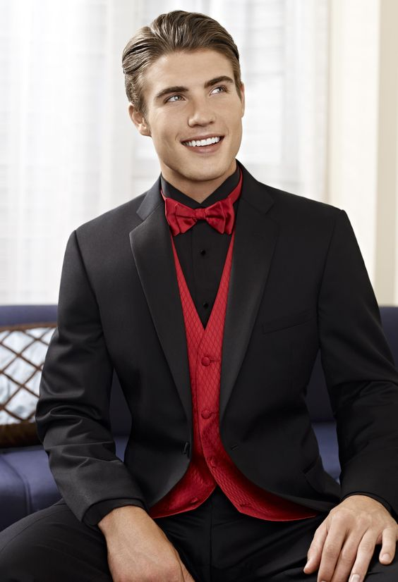 Wedding Tuxedos Red Black And Tuxedos On Pinterest