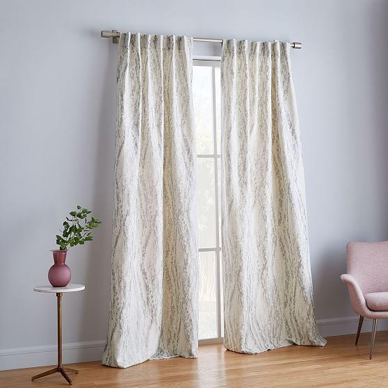 Bark Texture Shine Jacquard Curtain Platinum In 2020 Curtains