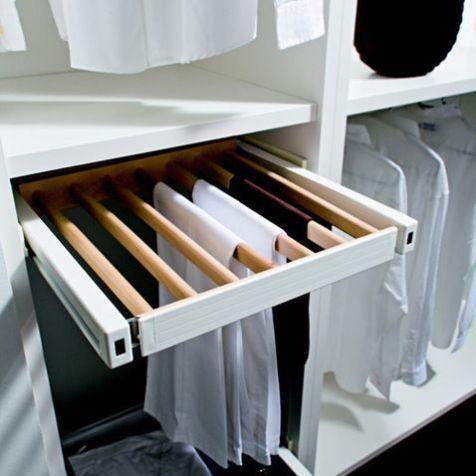 15 Los Pantalones Pueden Colgarse En Cajones Con Barrotes Como Estos Interiores De Armarios Interiores De Placard Diseno De Armario