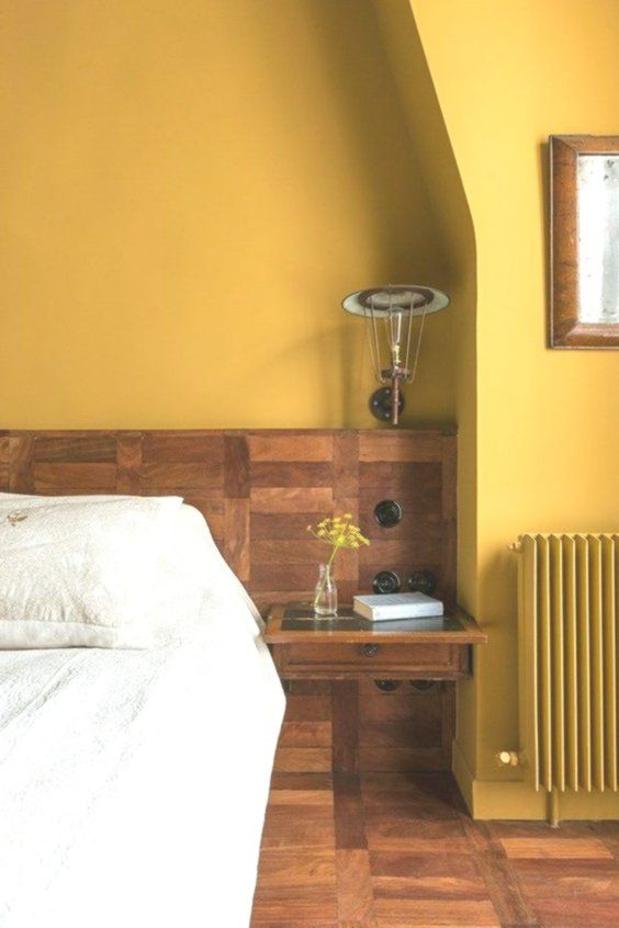 a mustard statement wall is a bold feature for any space and is cool for the fal... - #Bold #cool #fal #Feature #mustard #space #statement #wall
