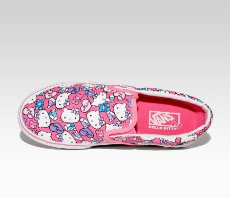 """Anyone who grew up in the """"skater"""" crew has to love the Vans...but Hello Kitty Vans?! Oh hell yeah!"""