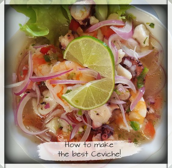 """Get an original recipe of healthy and fresh Ceviche - also called """"salad in a soup"""" ... perfect for summer!"""