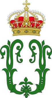 Royal Monogram of King Umberto I of Italy