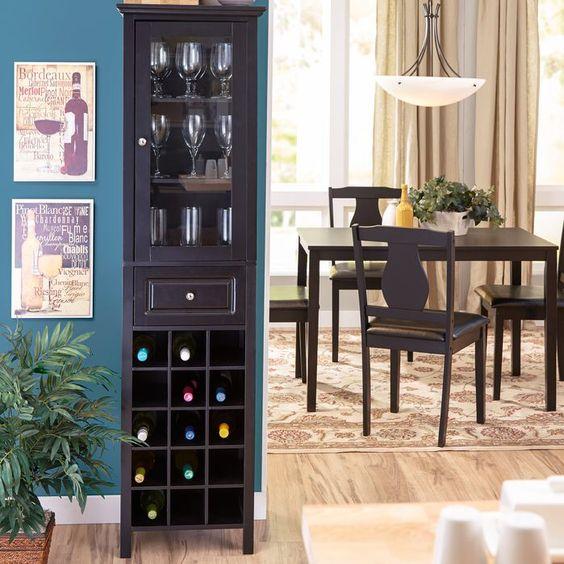 Andover Mills Burley 15 Bottle Wine Cabinet