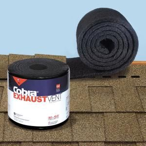 Owens Corning Ventsure Sky Runner Lte 14 5 In X 360 In Rolled Ridge Vent In Black Sky30 The Home Depot In 2020 Ridge Vent Exhaust Vent Roll Roofing