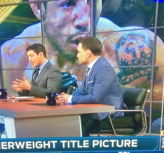 Frankie Edgar on a booster seat!!!