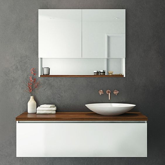 Gallery Website Rifco Platinum Wall Hung Vanity mm with Timber top in Blackwood u Oasis Basin
