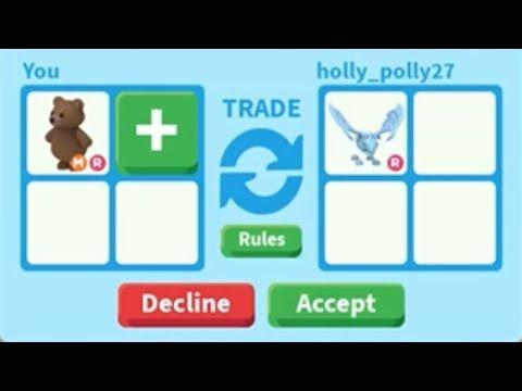 Trading Mega Neon Bear In Adopt Me On Roblox Mega Bear Worth In 2020 Adoption Roblox Trading