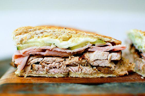los cubanos...pork, ham, swiss, mustard and pickles