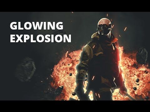 Glowing Explosion Photoshop Action Youtube Photoshop Actions Photoshop Explosion