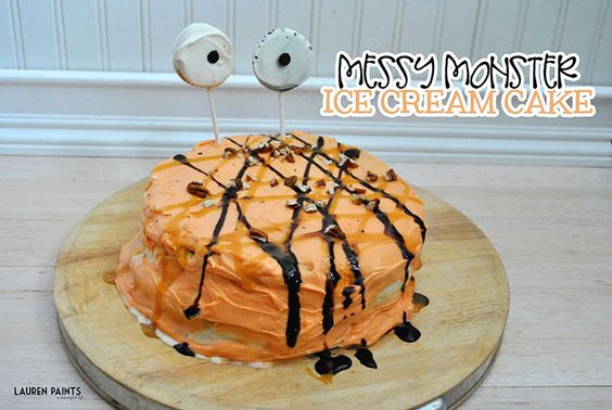 Messy Monster Pumpkin Ice Cream Cake - The Perfect Fall Treat {Gluten Free + Delicious}