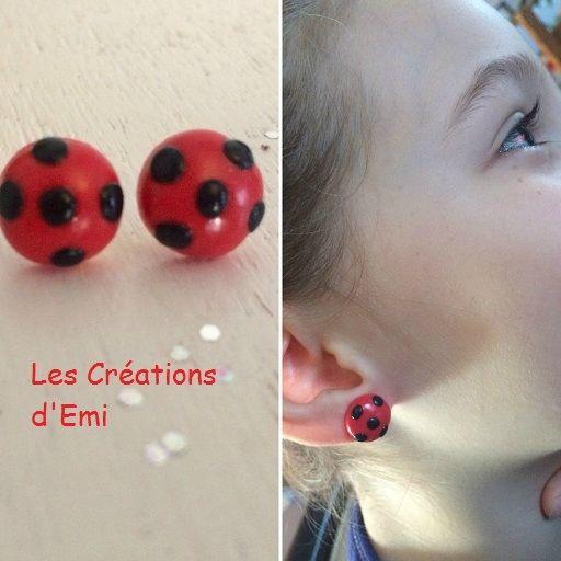 boucle d'oreille ladybug miraculous