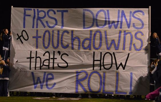 JHS football run through sign