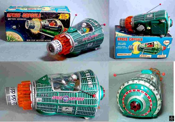 Space Capsules - SPACE CAPSULE GREEN VERSION - HORIKAWA - JAPAN - ALPHADROME ROBOT AND SPACE TOY DATABASE