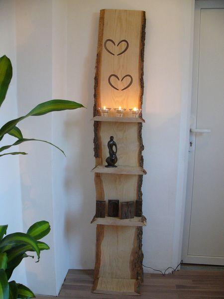 xxl stehlampe regal holz inkl led beleuchtung pinterest. Black Bedroom Furniture Sets. Home Design Ideas