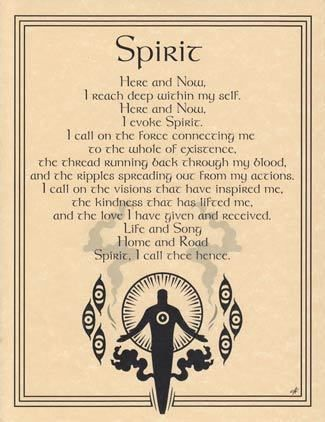 SPIRIT EVOCATION - POSTER Wicca Pagan Witch Witchcraft Goth BOOK OF SHADOWS picclick.com:
