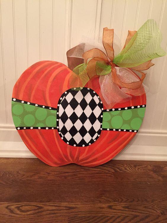 FALL DOOR HANGER , fall door decor halloween decor  , Halloween Wreath , Thanksgiving decor , thanksgiving wreath , center for personalizati by OneCraftyWifey on Etsy https://www.etsy.com/listing/207345825/fall-door-hanger-fall-door-decor