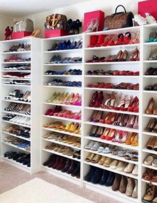 Shoe Life Shoecloset Walkincloset Closet Shoe Storage Custom