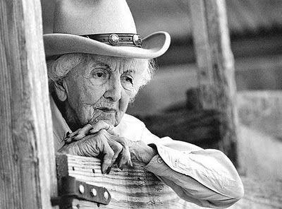 connie douglas reeves.  original cowgirl.  born eagle pass, texas 1901. died 2003 at 101 years old having been thrown from her horse.