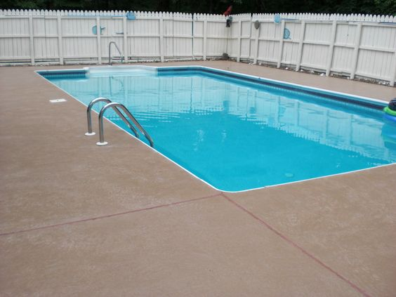 Old River Pebble Pool Deck Gets A New Surface Polymer Overlay Was Applied Over The River Pebble