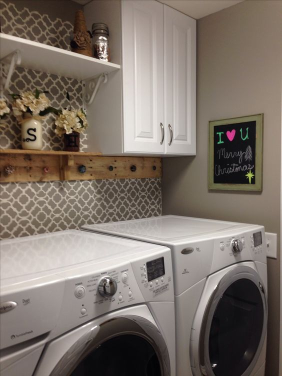 laundry room retro wallpaper - photo #2