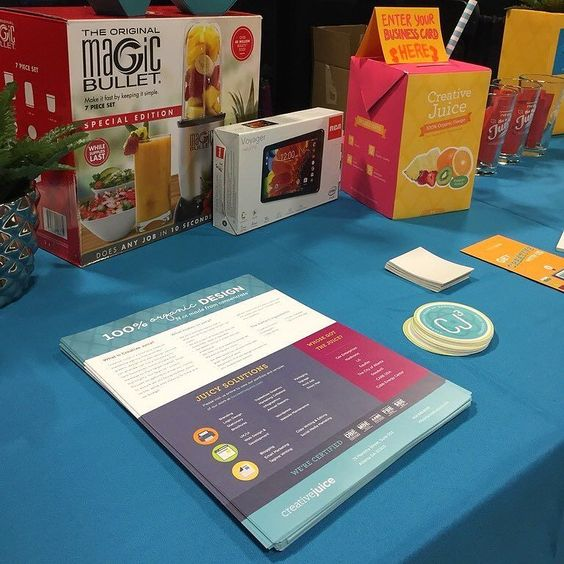 Sneak peak of our table #swag at the #smallbizexpo #smallbiz #smallbusiness #business #entrepreneur #boss #agency #marketing #design  #grahicdesign #graphics #atlanta #getcreative #thejuicers