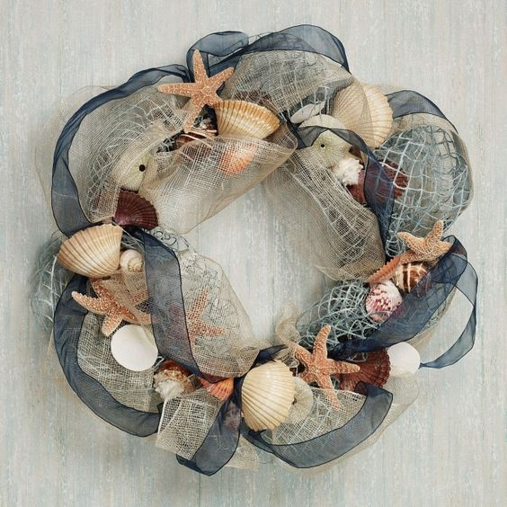 Seashell Wreath | Coastal Christmas Wreath