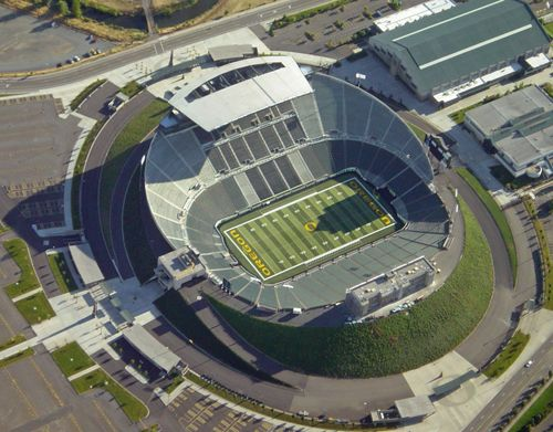 Image result for oregon football stadium