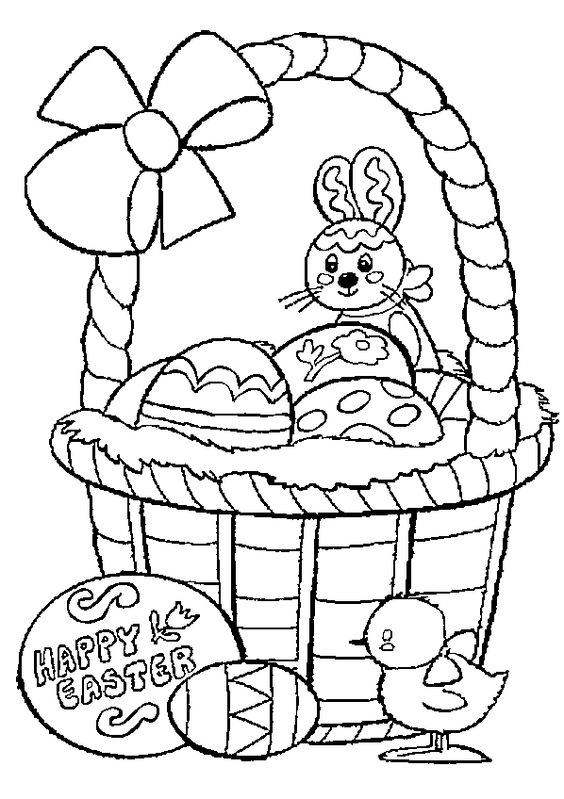 easter basket coloring pages online - photo#5