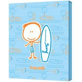 $51.99 Found it at Wayfair - Felittle People ''Surf Boy'' Canvas Art