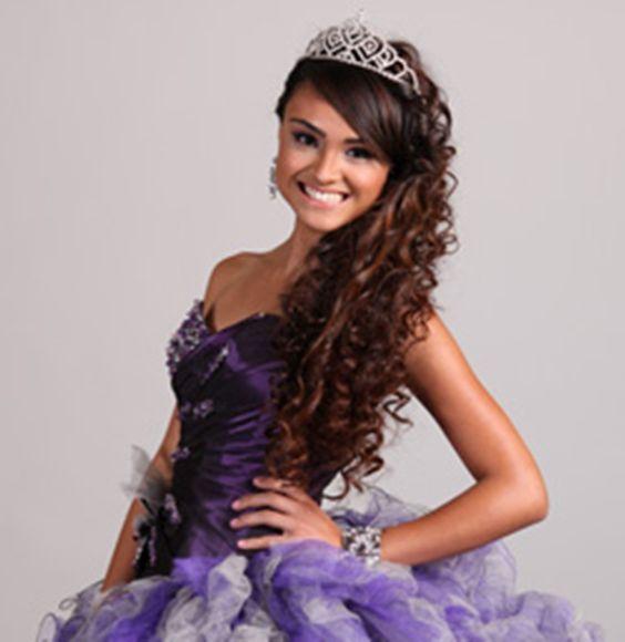 15 Fabulous Half Up Half Down Wedding Hairstyles: Quince Hairstyles, Quinceanera Hairstyles And Half Up Half