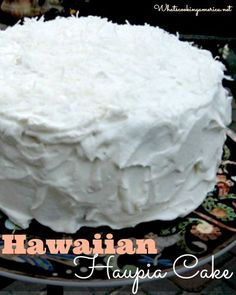 Ingredients:  1 (18-ounce) package white cake mix 2 egg whites 2/3 cup frozen coconut milk, thawed* 2/3 cup water Haupia Filling (see recipe below) Whipped Cream Topping (see recipe below)    Haupia Filling: 4 1/2 tablespoons cornstarch 3/4 cup water 3 cups frozen coconut milk, thawed 3/4 cup granulated sugar 3/8 teaspoon salt 1 1/2 teaspoons pure vanilla extract