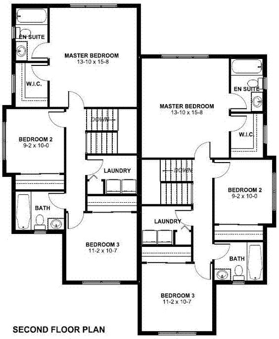 Craftsman Multi Family Plan 90811 Floors Craftsman And