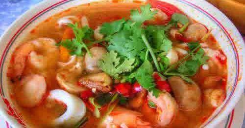 Resep Sup Tom Yam Dan Cara Membuat Sup Tom Yam Ala Thailand Seafood Enak Lengkap Dengan Bahan Bahan Sup Tom Yam Seafood Sal Sup Seafood Resep Sup Resep Masakan