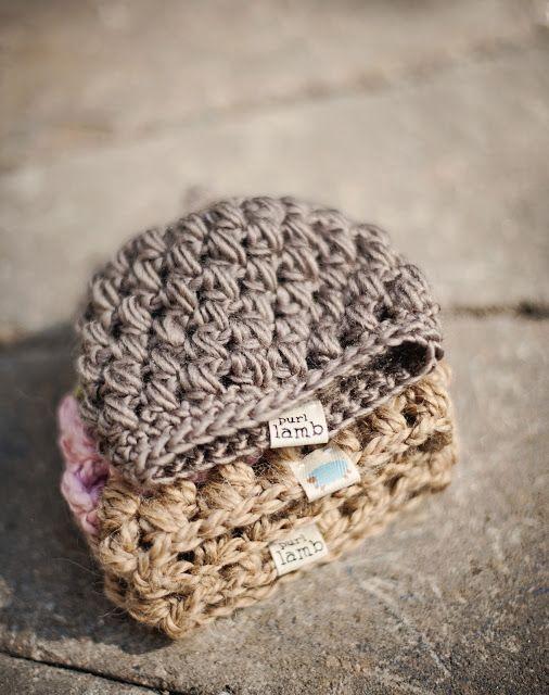 10 Free Unique Hat Crochet Patterns via Hopeful Honey: