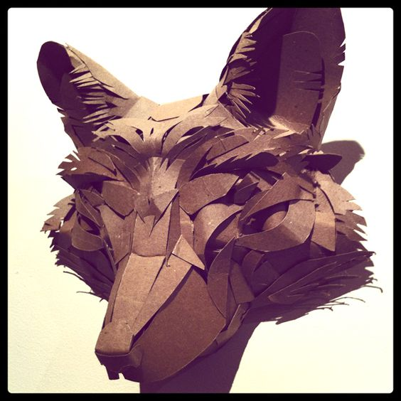 how to make a fox mask out of cardboard