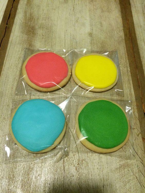 """Biscoitos amanteigados para festa """"Pintando o 7"""""""