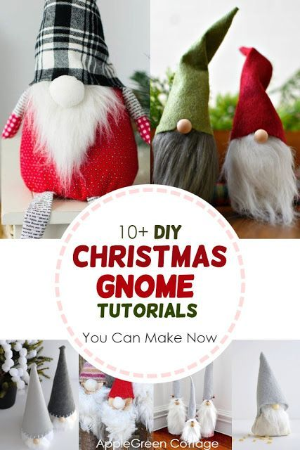 10 Diy Gnomes Christmas Gnome Tutorials Applegreen Cottage Christmas Diy Christmas Gnome Scandinavian Christmas Decorations