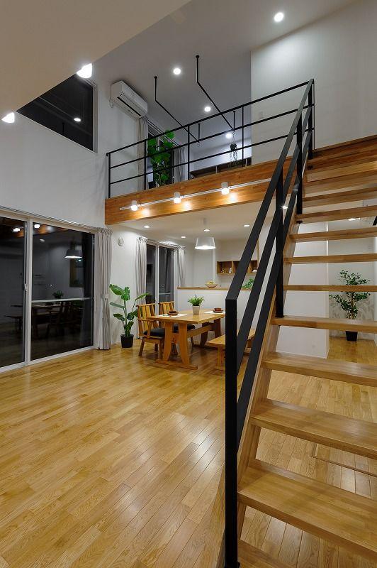 小布施町の注文住宅写真集 開放感のあるホワイトモダンの家 インテリアアーキテクチャ 家 住宅