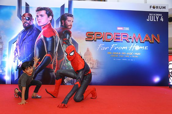 SPIDER-MAN WAS BACK AT THE FORUM VIJAYA MALL TO MEET HIS LITTLE FANS
