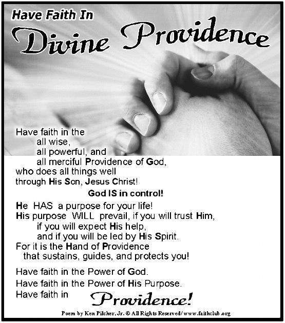 divine providence a give and I have said it before: i strongly believe god can and does providentially raise up leaders in times of great darkness and crisis to avert what looks like an utterly.