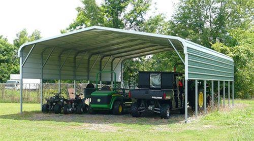 18x41 Vertical Style Metal Carport Alan S Factory Outlet Steel Carports Carport Prices Farm Storage Buildings